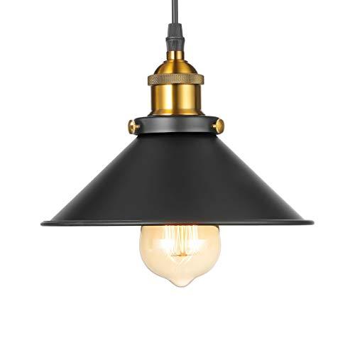 Moderne Vintage Industriel Métal Noir Bronze Loft Bar Plafonnier Abat-Jour Rétro Pendentif Lumière