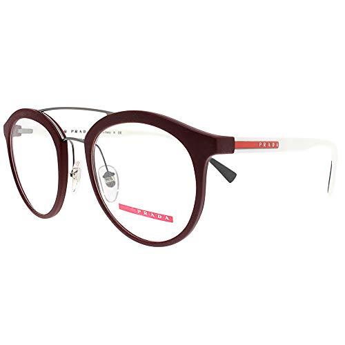 Prada Linea Rossa 0PS 01HV, Monturas de Gafas para Hombre, Marrón (Bordeaux Rubber), 50