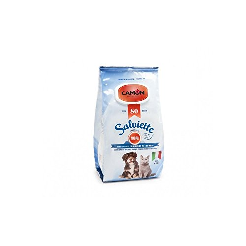 Camon Reinigungstücher AllAmbra 80 Stück für Hunde Artikel für Haustiere