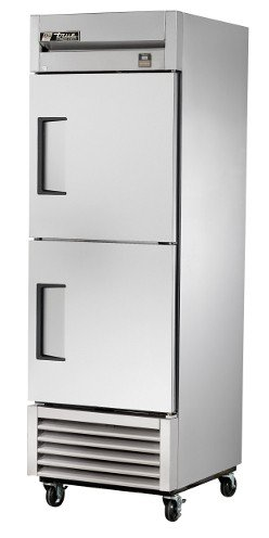 True TS-23F-2-HC Single Section All Stainless Reach-in Freezer with Half Doors