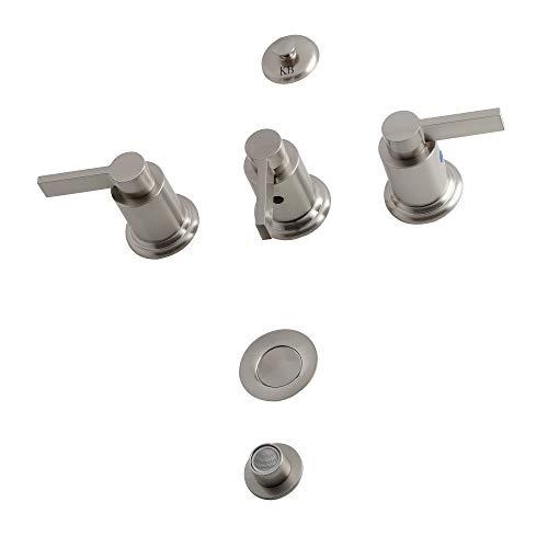 Kingston Brass KB6328NDL NuvoFusion Bidet Faucet, 8' (L) x 2-1/8 (W), Brushed Nickel