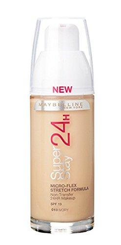 Maybelline SuperStay 24 Hour, Fondotinta, Ivory 010, 30 ml