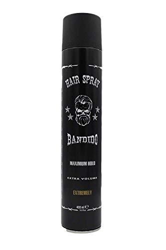 Bandido Hair Spray Maximum Hold Extra Volumen 400ml Haarspray Friseurbedarf Haar Styling für alle Haartypen Hairspray für Damen und Herren (1x 400ml)