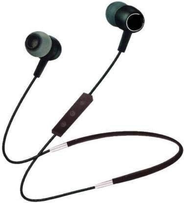 Duet Mini Magnetic Neckband Bluetooth Headset with Mic, Extra Bass Stereo, Lightweight (Black)