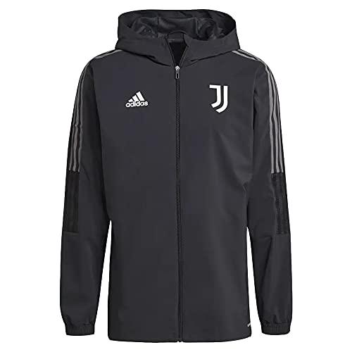 adidas JUVE PRE JKT Jacket, Carbon, XS Mens