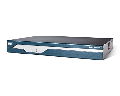 Cisco 1801 ADSL WiFi Ethernet Azul, Acero Inoxidable - Router