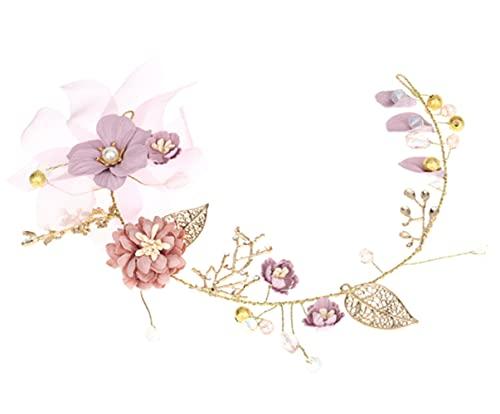 Voarge Accesorios para el cabello de boda de flores, Tocado pelo boda...