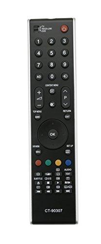 Vinabty CT-90307 = CT-90301 = CT-90287 = CT-90288 = CT-90263 Remplacer Remplacer la Télécommande Appropriée pour Toshiba LED TV LCD