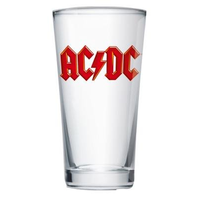 AC/DC Vaso de cristal, transparente, 9 x 9 x 15 cm
