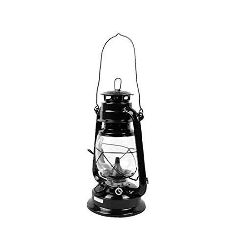 lulongyansf Vintage keroseno Linterna lámpara de petróleo Negros portátiles acampan al Aire Libre Luces de múltiples Funciones de Las Luces portátiles iluminación Exterior Tipo Lamp245