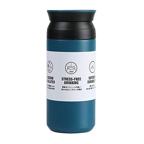 Taza de Viaje, 350 ml Frasco Termico, Tazas de Café Viaje Termo Inoxidable, Térmica de Doble Pared, Reutilizable, Antigoteo, Hermética, para Coche Oficina