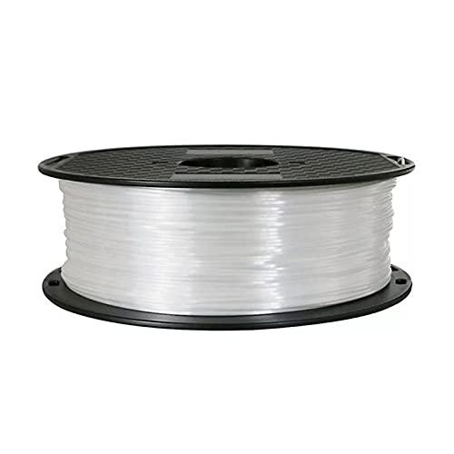 kasu Bianco di Seta PLA 3D. Filamento della Stampante 1.75mm 250g / 500G / 1KG Filamenti Seta Silky Shine 3D Pen Materie da Stampa Materiali Metallici Metallici Gli QUANTISCO (Color : White 500g)