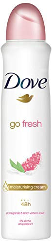 Dove Go Fresh, Pomegranate Fragrance,Antiperspirant Aerosol Deodorant For Women, Clean And Fresh, Body Odour Protection, Large 1 Month Supply (250 ml)