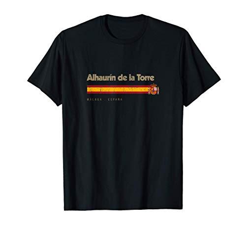 Alhaurín de la Torre Ciudad Española Vintage Bandera España Camiseta