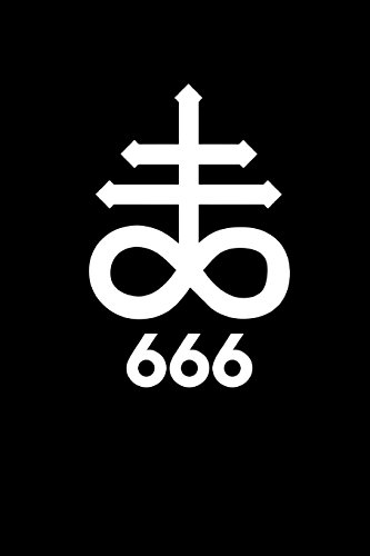 666: The Cross of Leviathan - Satanic Sigil   College Ruled Lined Pages (Journal, Notebook, Diary, Composition Book) (Volume 2)