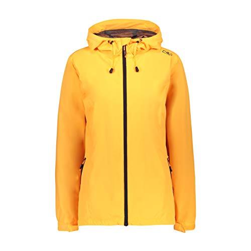 CMP Damen Windproof and Waterproof rain Jacket WP 10.000 Regenjacke, Solarium, D44