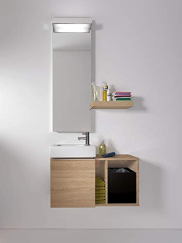 Keramag Waschtisch iCon xs, Ablagefläche links, 530x310mm weiß(alpin)