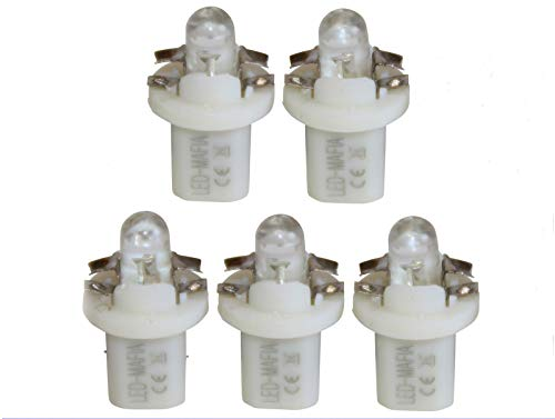 LED-Mafia® Lot de 5 ampoules de comptoir à LED B85d Round Heat Blanc/bleu/rouge