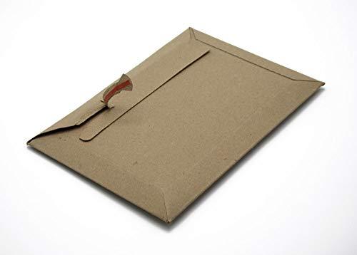 Versandtaschen braun Vollpappe (Querbefüllung) Karton DIN A4 - flach: 315x240mm / aufgestellt 280x190x50mm (PS.263) (25)