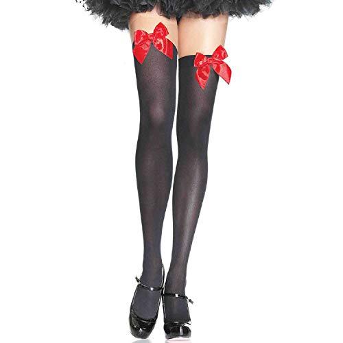Leg Avenue Bas Comme Un Cadeau Noir/Rouge Taille Unique