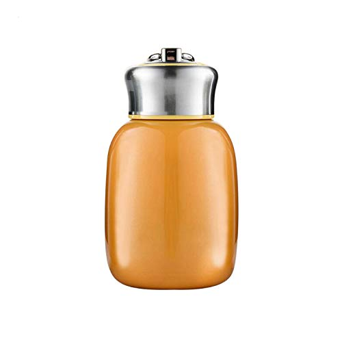 280ML Mini Cute Coffee Vacuum Flasks Thermos Stainless Steel Travel Drink Water Bottle Thermoses Cups and Mugs (Orange)