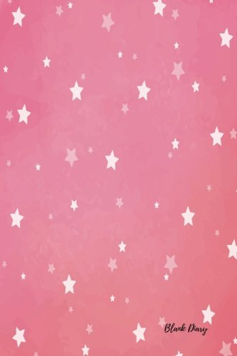 Blank Diary: White Stars For Girls, Boys, Adults, Men, Women, Empty Journal Notebook To Write In Unlined, Unruled Writing Paper Pad Journal