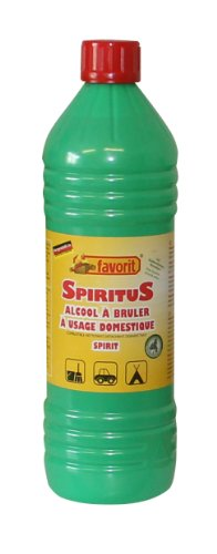 Favorit 1270 Spiritus 1000 ml; geeignet für Haushalt, Auto und Freizeit; aus reinem Bio-Alkohol mit Spritzausgießer und kindersicherem Verschluss