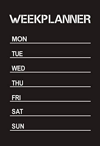 Weekplanner kalender schoolbord schoolbord schoolbord muur sticker sticker 67x90cm