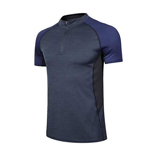 polo uomo 3 bottoni Muscle Alive Uomo Polo Corto Manica Camicie -Prestazione Golf Maglietta per Uomini Sports Magliette
