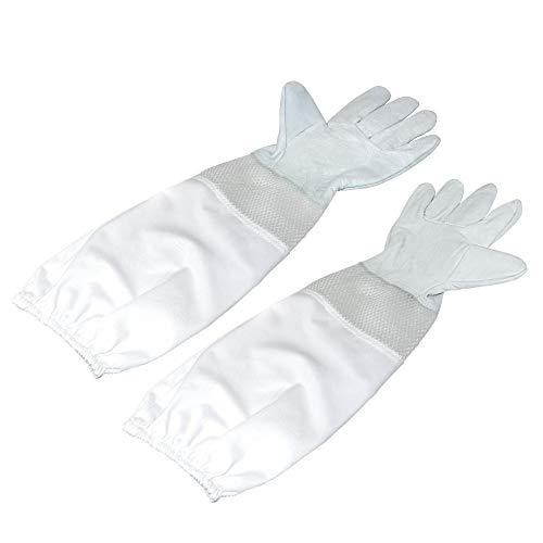 KINGLAKE Imkerhandschuhe für Damen und Herren, mit belüfteten Ärmeln