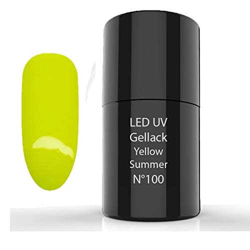 LED UV Gellack, UV Nagellack, UV Lack, 6ml (100 Yellow Summer)