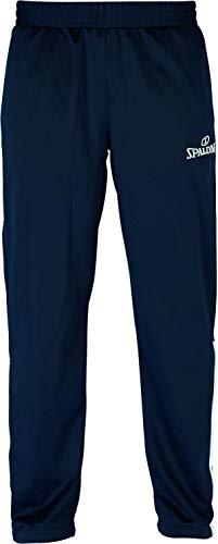 Spalding 300502102_XL Pantalon, Bleu Marine/Blanc, Homme