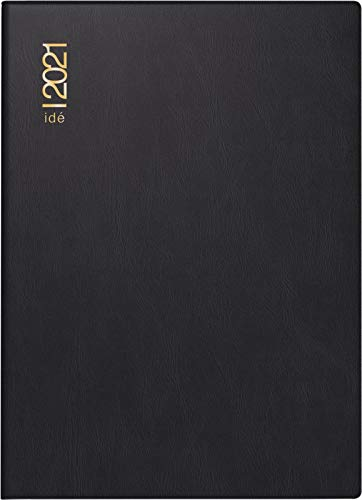 rido/idé 7013002901, Wochenkalender/Taschenkalender 2021 Modell perfect/Technik I, Kunststoff-Einband, schwarz