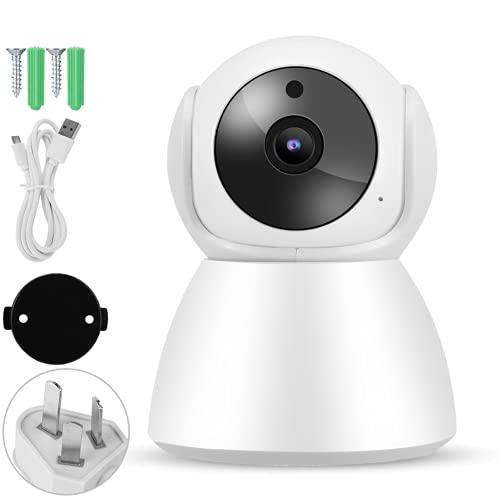 Socobeta Cámara IP WiFi 1080P, intercomunicador de 2 vías intercomunicador bebé cuidado Monitores 355 ° horizontal HD voz intercomunicador para bebé para el hogar (por defecto)