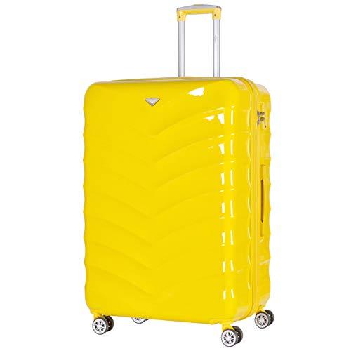 Flight Knight ABS 3 Taglia Valigia Leggera Compatibile Con easyJet, Alitalia, RyanAir, Lufthansa, Wizz Air E Tanti Altri! Trolley Bagaglio A Mano 55x35x20 cm Grande Bagaglio Da Stiva 8 Rotelle.