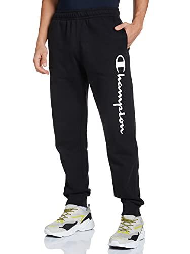 Champion Legacy Classic Logo Pantalones de Vestir, Negro, XL para Hombre