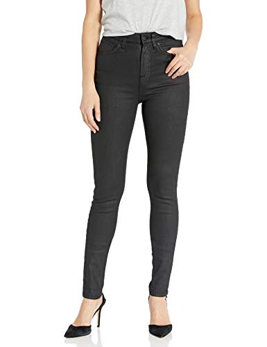 Nudie Jeans Damen Hightop Tilde Painted Black Jeans, Schwarz lackiert, 30W x 32L