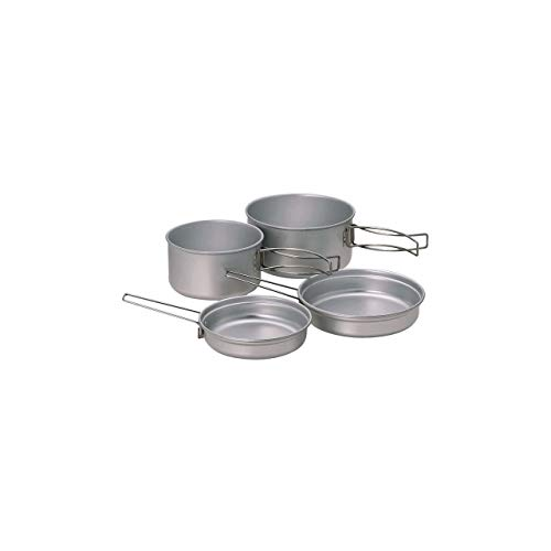 Snow Peak Multi Compact Cookset, SCS-020T, Japanese Titanium, Ultralight and Compact for Camping and Backpacking, Made in Japan, Lifetime Product Guarantee