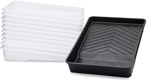 Hard Shell Paint Tray with 10 Disposable Paint Tray Liners Deep Well Paint Trap Compatible with product image