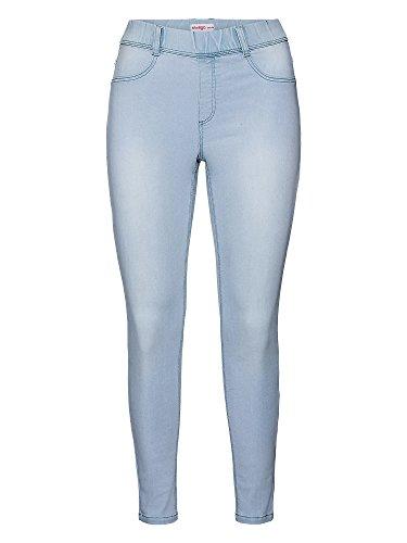 Sheego Biker Jeans Super Slim Damen Power Stretch Hose Denim Plusgröße Übergröße, Farbe:hellblau;Damengrößen:24