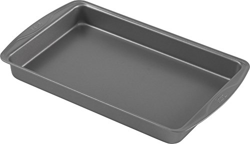 T-fal 84838 Signature Nonstick Brownie Pan, 7' x 11', Gray