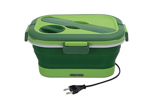 Cécoa - Scatola porta pranzo pieghevole riscaldante verde