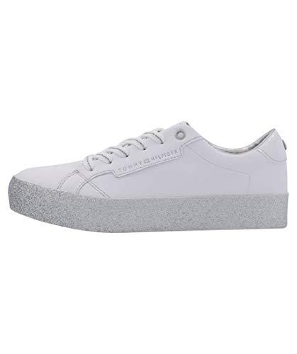 Tommy Hilfiger Shoes FW0FW4849-0K5 Größe 40 EU Weiß/Silber