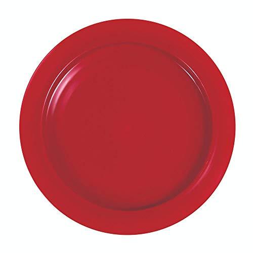 SP Ableware-36751 Maddak Inner-Lip Plate, Red (745310004)