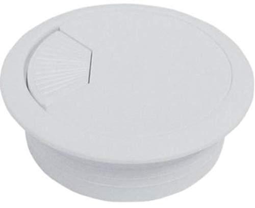 Kabeldurchführung, rund, für Schreibtisch, 60 mm, Weiß, Schwarz, Grau, Braun, Beige, elektrisch, Aufbewahrungsbox, Kunststoff