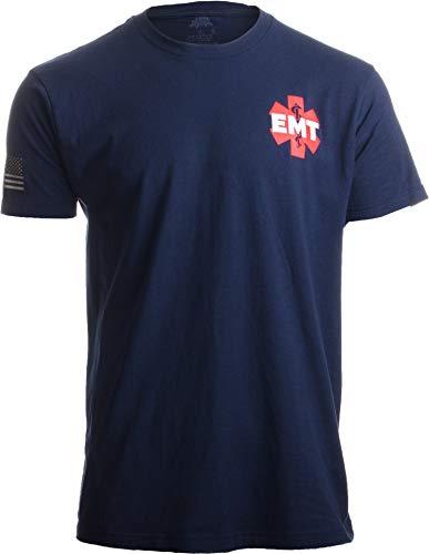 EMT AEMT Star Life   Medical Paramedic Ambulance Emergency for Men Women T-Shirt-(Adult,M) Navy Blue
