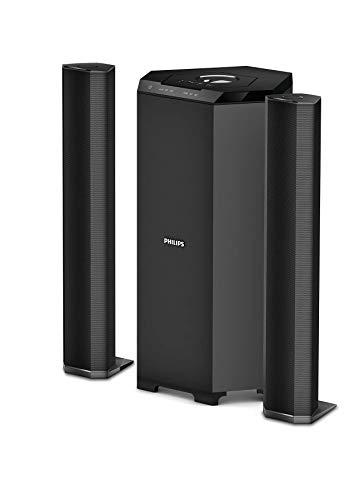 Philips Audio MMS8085B/94 80W 2.1 Channel Convertible USB Multimedia Speaker System, Black