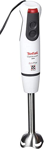 Tefal Optitouch HB8331 Batidora de inmersión 0.8L 600W Gris, Color blanco - Licuadora (Batidora de inmersión, 0,8 L, Gris, Blanco, 600 W, 1,19 kg, 144 mm)