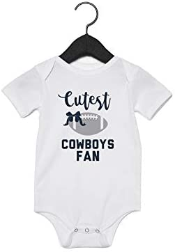 EGDKids Cutest Cowboys Fan Quote Baby Bodysuit White R077 0 6 Months product image