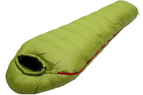 Saco de Dormir, Saco Dormir Momia Ultraligero Sacos de Dormir Adultos Acampada, para Camping Viajes Senderismo y Excursiones (Green,2000G)